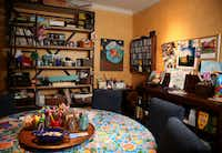 Jill Allison Bryan's creativity space at her home in Dallas on Aug. 18, 2016. (Rose Baca/The Dallas Morning News)(Staff Photographer)