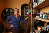 Jill Allison Bryan poses for a photograph in her creativity space at her home in Dallas on Aug. 18, 2016. (Rose Baca/The Dallas Morning News)Staff Photographer