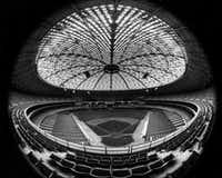 A view inside Houston's Astrodome during happier days, when it opened in 1965. Houston-area officials are still trying to decide what to do with the stadium, which has been closed since 2008.(The Associated Press)