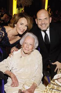 Philanthropist Margaret McDermott, seated, with Aaltje van Zweden and Jaap van Zweden.(Kristina Bowman   Photography)