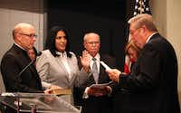 Ana Reyes was sworn in as Farmers Branch's first Hispanic council member in 2013.(File Photo/Staff)