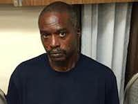 A smartphone photograph taken by the Mississippi Department of Public Safety in Durant, Miss., of Rodney Earl Sanders, charged with two counts of capital murder in connection with the killings.(The Associated Press)