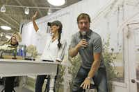 HGTV stars from Waco, Texas, Chip and Joanna Gaines talk to the audience during an appearance at  Nebraska Furniture Mart Texas in The Colony, Texas Aug. 30, 2016.Nathan Hunsinger/Staff Photographer