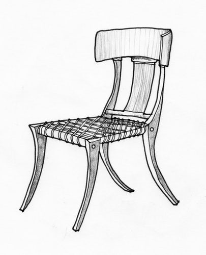 Klismos Chair An Ilration By Witold Rybczynski From His Book Now I Sit Me Down