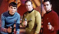 "Actors Leonard Nimoy, William Shatner and James Doohan from the original ""Star Trek"" series. The show premiered 50 years ago as one of the new fall shows on NBC's 1966-1967 schedule. (Paramount Pictures)"