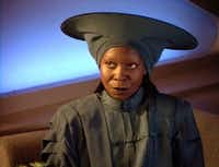 Whoopi Goldberg as Guinan on<i> Star Trek: The Next Generation</i>(Paramount Pictures)
