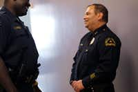 Charles Cato (right), longtime first assistant chief is Dallas, is the chief in Mesquite now, but many thought he would be Chief David Brown's successor. (2010 File Photo/Staff)