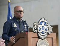 Dallas Police Chief David Brown spoke at a news conference in July.