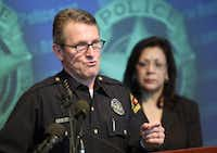Chief of Police David Kunkle answered questions about an incident in 2009. (The Associated Press)