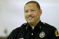 Interim Dallas Police Chief Randy Hampton spoke at a public safety meeting at Concord Baptist Church in 2004. (File Photo)