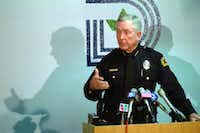 Dallas Police Chief William Rathburn answered questions during his tenure from 1991 to 1993.