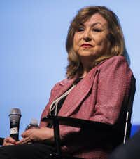 Regina Montoya, chairwoman of Mayor Mike Rawlings' Taskforce on Poverty, speaks on the panel entitled The Healthy City during The Dallas Festival of Ideas on Saturday, February 20, 2016 at Fair Park in Dallas.(Ashley Landis/Staff Photographer)