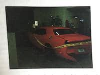 Jose Cruz's red 2014 Dodge Challenger.(Search warrant photo)