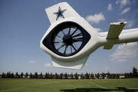 The tail rotor of the Dallas Cowboys' new corporate helicopter.(Andy Jacobsohn/Staff Photographer)