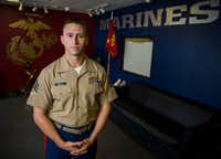 Sgt. Colton Terrell was in eighth grade on Sept. 11, 2001, and he eventually joined the U.S. Marine Corps and served in Afghanistan. (Ashley Landis/Staff Photographer)