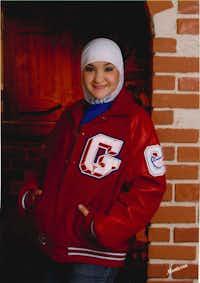 A high school photograph of Ghadir Qaddura after she began to wear the hijab.(Photo contributed by Ghadir Qaddura)
