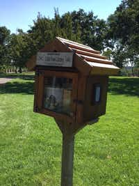 Benjamin's Books is in Freedom Park located in Prescott, Wis.