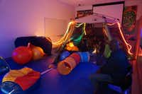 The sensory room is a quiet place for children to go if they are overwhelmed by the program's activities.(Dallas Museum of Art<br>)