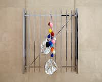 """October 16,"" 2012, chrome-plated steel, magnets and balloons. (Nan Coulter/Special Contributor)"