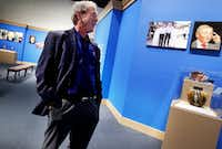 "Former President George W. Bush tours his new exhibit, ""The Art of Leadership: A President's Personal Diplomacy"" at the George W. Bush Presidential Library and Museum in Dallas in 2014. (AP Photo/The Dallas Morning News, Mona Reeder)AP"