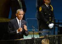 "President Barack Obama, speaking to the U.N. General Assembly on Tuesday, has insisted that updating the overtime rules is essential to ""making sure hard work is rewarded."" (Dennis Van Tine/Abaca Press) (<p><br></p>)"