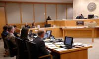 """<p>District Judge Mark Rusch&nbsp;announced to courtroom spectators before the verdict was read that they were to show no visible reaction. """"This verdict will be respected,"""" he said.</p>(David Woo/Staff Photographer)"""