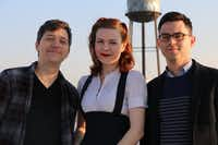 Atlas Obscura co-founders Dylan Thuras (left) and Joshua Foer (right) with associate editor Ella Morton. (Atlas Obscura)