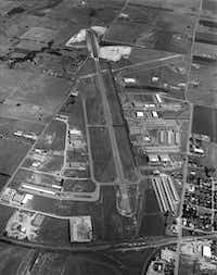 Shot June 29, 1969 - aerial photo of Addison airport