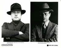 "In a 1989 promotional still by New Line Cinema for the movie version of Whitley Strieber's memoir ""Communion,"" actor Christopher Walken (left) is shown as Strieber (right)."