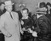 Bob Jackson's photo of Jack Ruby killing Lee Harvey Oswald won the Pulitzer Prize for the Dallas Times Herald.  (Bob jackson)