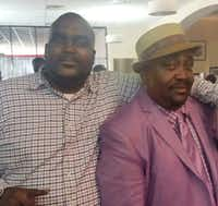 Terence Crutcher (left) with his father, Joey Crutcher(Parks & Crump LLC)
