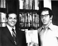 Robert Gottlieb with Robert Caro, 1974. From <i>Avid Reader: A Life</i>, by Robert Gottlieb(Martha Kaplan)
