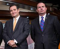 Ted Cruz and Mike Lee have been close friends and allies in the Senate. (The Associated Press)