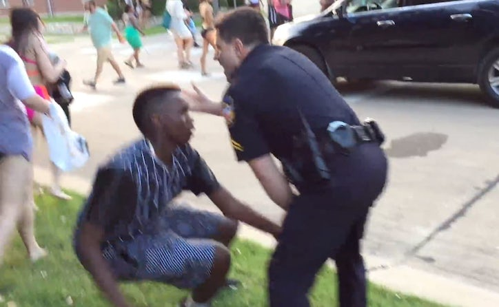 Girl pinned by cop at mckinney pool party sought 2 5 million from city for 39 social damage for Public swimming pools in mckinney tx