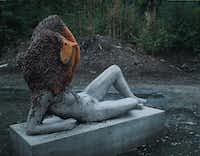 Untilled (Liegender Frauenakt), 2012 Concrete cast with beehive structure, wax(Pierre Huyghe/Nasher Sculpture Center)