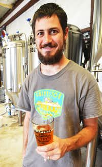 "<p><span style=""font-size: 1em; background-color: transparent;"">Mark Dell'Osso of Galveston Island Brewing</span></p>(Clare MIers)"