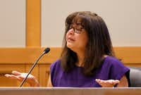 """She was not yours to take,"" mom Anna Morris tells defendant Enrique Arochi. (Jae S. Lee/Staff Photographer)"