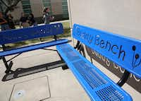 <p></p><p>The first Buddy Bench was installed at an elementary school in Pennsylvania, and the idea has spread nationally over the last few years. Now, they're popping up at schools throughout the Dallas area.</p><p></p>(Rose Baca/Staff Photographer)