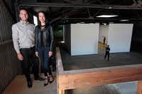 Jason Koen and Nancy Koen at their art project space. At right is the main gallery space. The building was once a box manufacturing warehouse. (Ben Torres/Special Contributor)Special Contributor