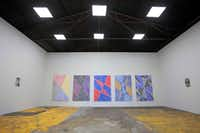"The main gallery space where current exhibit, by Francisco Moreno, titled ""Scribble Painting,"" hangs inside the art project space called The Box Company. (Ben Torres/Special Contributor)Special Contributor"