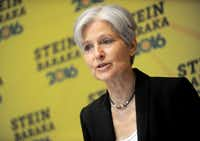 Jill Stein discusses 'Green New Deal' held at Holiday Inn Lower East Side, in New York City.Dennis Van Tine/TNS