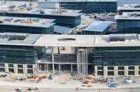 Toyota's new U.S. headquarters under construction in Plano. (Ashley Landis/The Dallas Morning News)