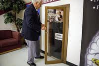 "Bill Betzen unlocks at time capsule safe at Raul Quintanilla Sr. Middle School Friday, April 22, 2016 in Dallas. Quintanilla alumni stopped by the West Dallas school Friday to collect their letters with the help of Betzen, a former teacher who started the time capsule program in 2005. (<p><span style=""font-size: 1em; background-color: transparent;"">G.J. McCarthy/The Dallas Morning News</span><br></p><p>Staff Photographer</p><p></p>)"