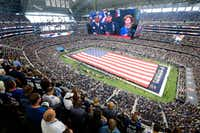 AT&T Stadium, home of the Dallas Cowboys, will have a new neighbor if Arlington voters decide to help fund a new $1 billion stadium for the Texas Rangers.(Tom Fox/Staff Photographer)