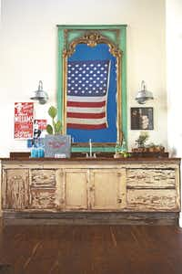 """One of the Junk Gypsies' favorite messages to play up is patriotism. The Round Top-based sisters frequently use flags and bunting in their designs.(<p><span style=""""font-size: 1em; background-color: transparent;"""">April Pizana Photography</span><br></p><p></p>)"""