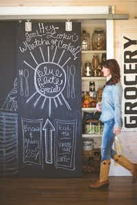"""The easiest way to transform a basic hollow-core door? Chalkboard paint, say sisters Amie and Jolie Sikes.(<p><span style=""""font-size: 1em; background-color: transparent;"""">April Pizana Photography</span><br></p><p><br></p>)"""