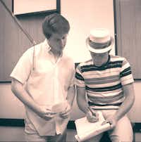 "Brian Wilson and Mike Love in a recording session, in an image from Love's memoir ""Good Vibrations: My Life as a Beach Boy.""(Capitol Records)"
