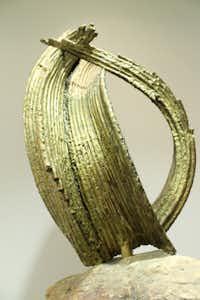 The Eagle, copper, brass and stone sculpture, 1977.(Andrea Blanco, CAC/Creative Arts Center)