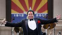 Entertainer Wayne Newton performs during the 100th anniversary celebration of Arizona's statehood in 2012. (AP Photo/Matt York)
