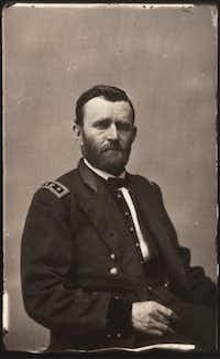 Ulysses S. Grant appears in a portrait, circa 1864, taken by famed portrait photographer Mathew Brady.(MCT)